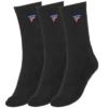 Kép 1/2 - Tecnifibre Tour hosszú szárú zokni 3 pár (fekete)