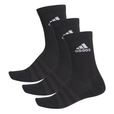 adidas Cush CRW - 3 pár hosszú szárú zokni (fekete)