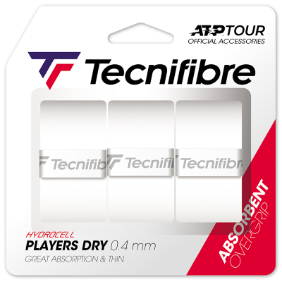 Tecnifibre Player Dry ATP (3 db) fehér fedőgrip
