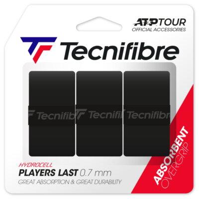 Tecnifibre Players Last (3 db) fekete fedőgrip