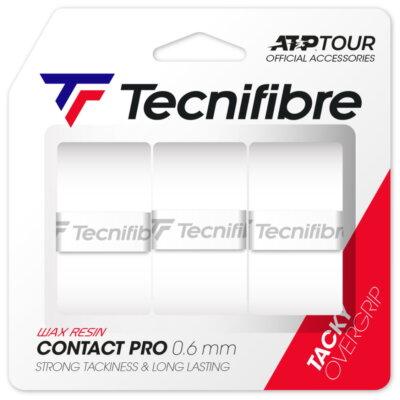 Tecnifibre Pro Contact (3 db) fehér fedőgrip