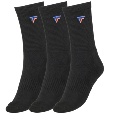Tecnifibre Tour - 3 pár hosszú szárú fekete zokni