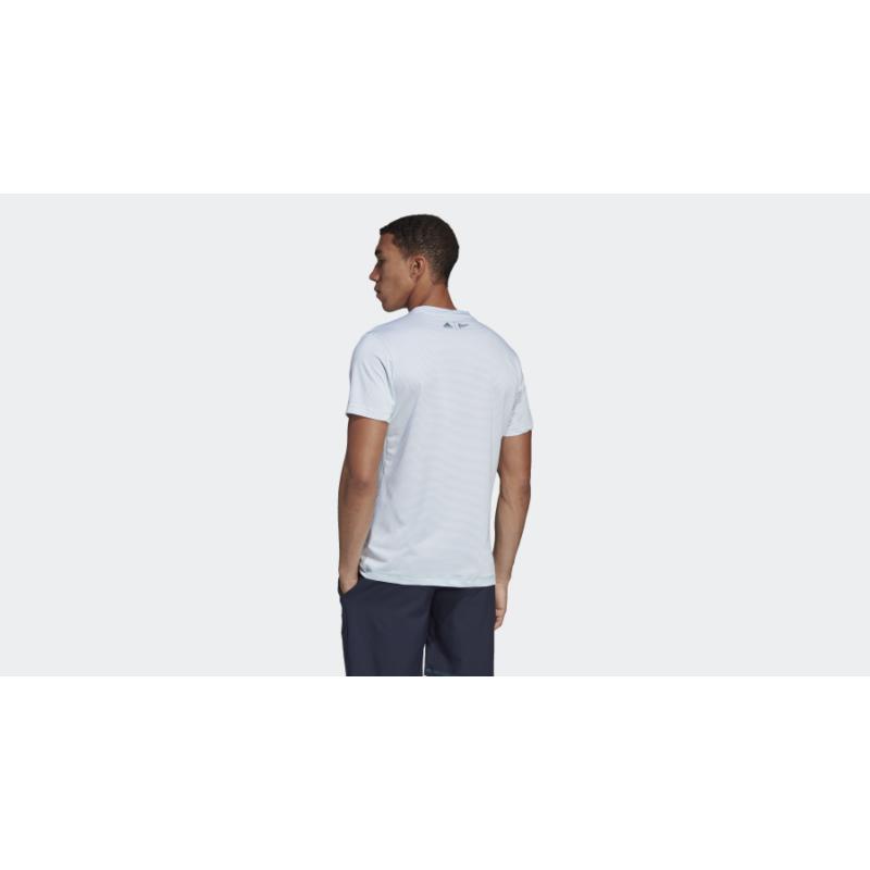 adidas Parley Stripted Tee fehér férfi pólóing